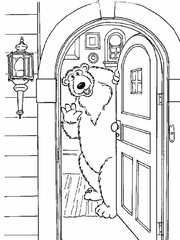 bear inthe big blue house welcome to my house coloring pages - Open House Coloring Pages