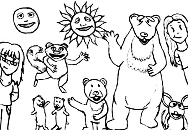 Bear inthe Big Blue House and Friends Coloring Pages