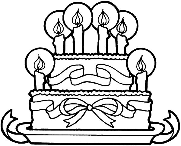 Beautiful Wedding Cake Chocolate Flavour Coloring Pages