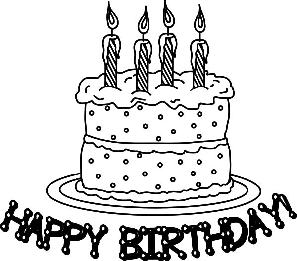 Birthday Cake My Precious Coloring Pages