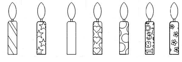 Birthday Candle Coloring Pages NetArt