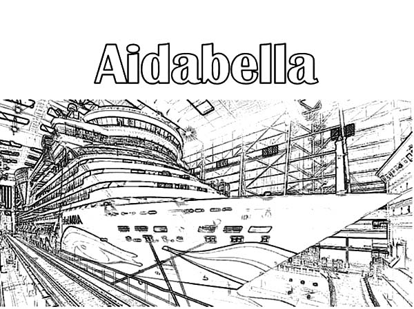 Building Aidabella Cruise Ship Coloring Pages