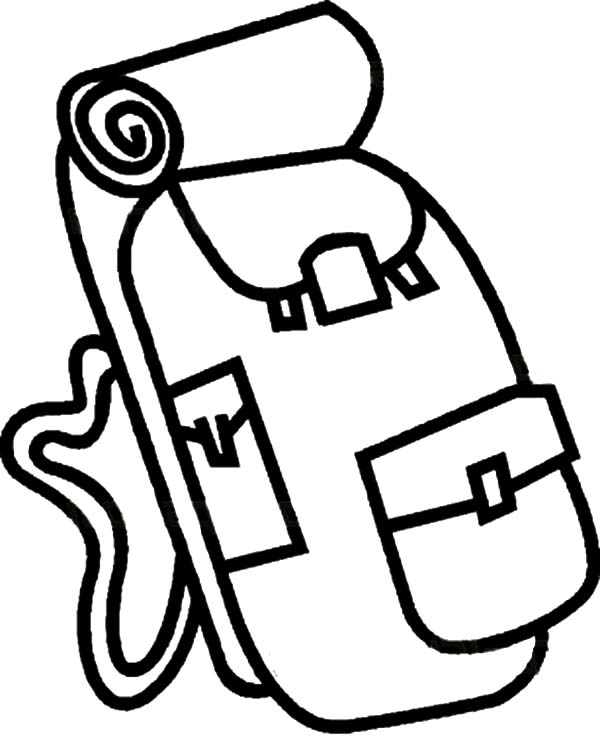 Camping Backpack Coloring Pages for Kids NetArt