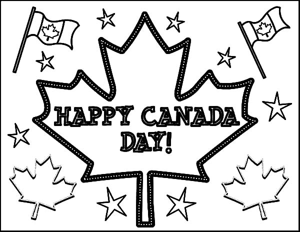 Canada Day Celebration Coloring Pages