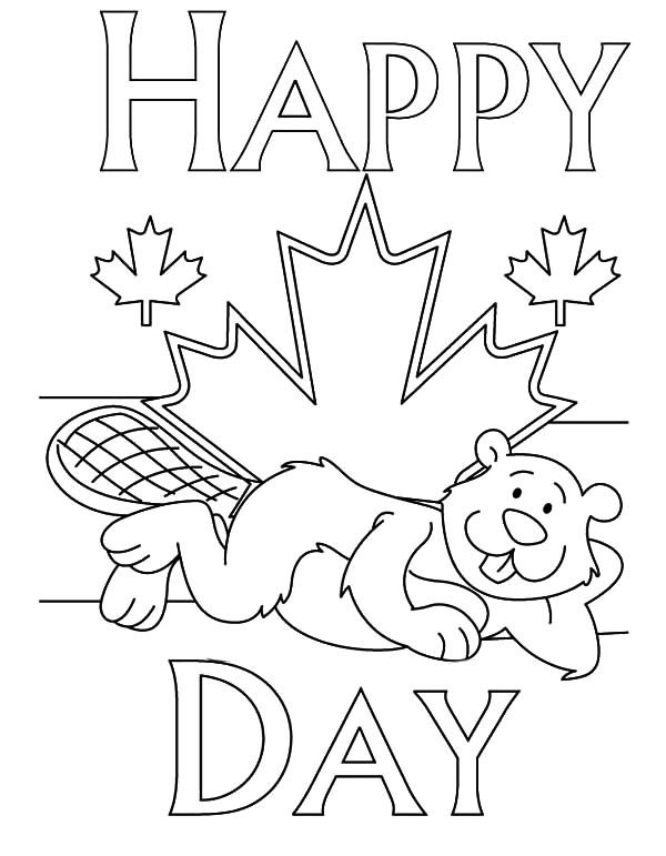 Canada Day Coloring Pages for Kids
