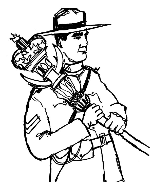 Canada Day National Army Coloring Pages