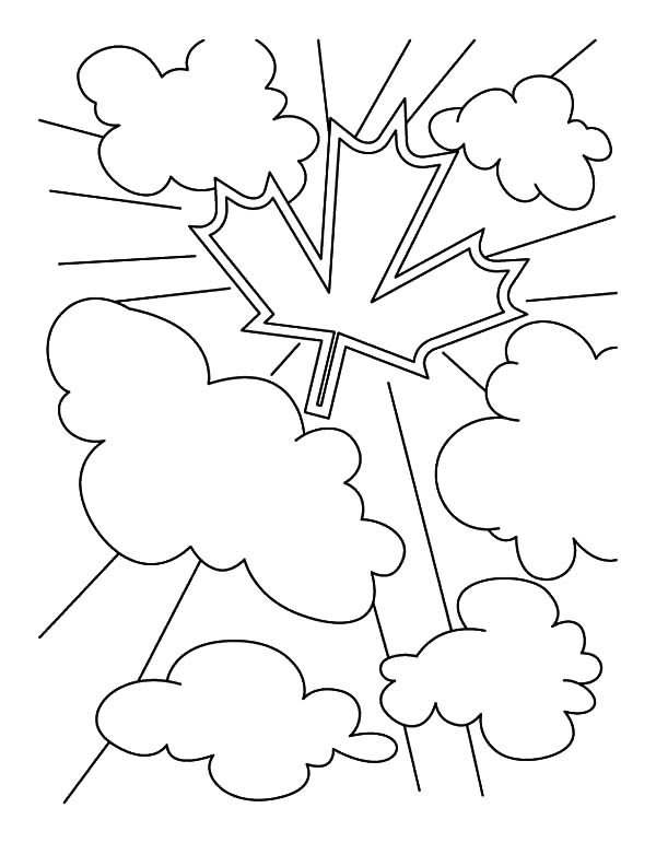 Canada Day on the Clouds Coloring Pages