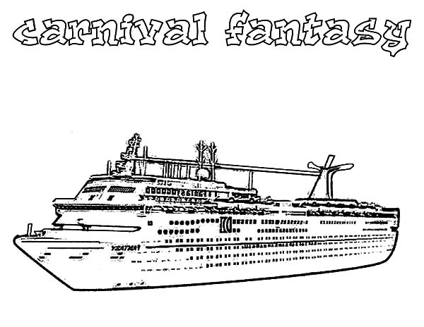 Carnival Fantasy Cruise Ship Coloring Pages