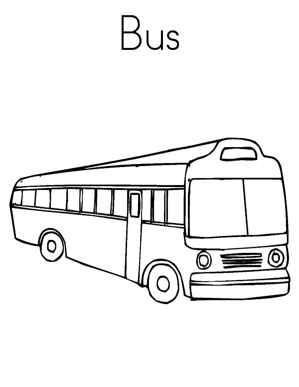 Cheap Transportation City Bus Coloring Pages