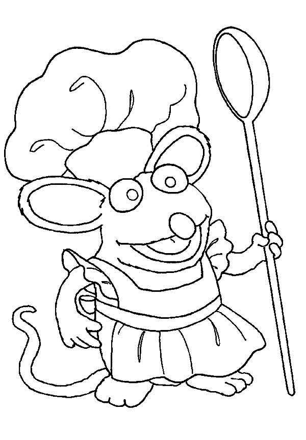 Chef Tutter Cook at Bear inthe Big Blue House Coloring Pages