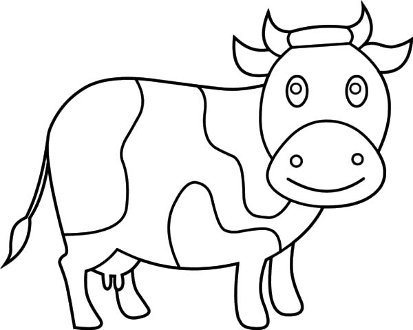 Chibi Dairy Cow Coloring Pages