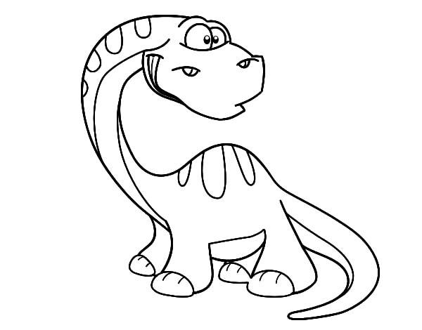 Chibi Diplodocus Coloring Pages