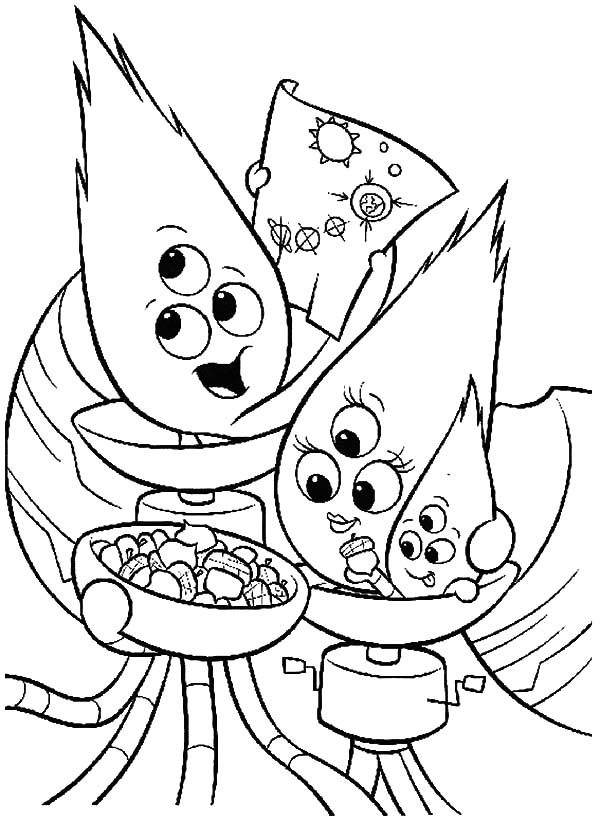 Chicken little alien family coloring pages netart for Chicken little coloring page