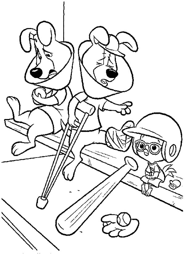 Chicken Little All Other Player Cannot Play Because of Injury Coloring Pages