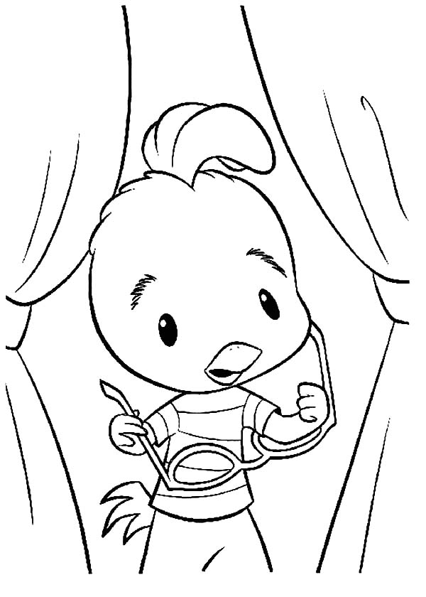 Chicken Little Take Off His Glassess Coloring Pages