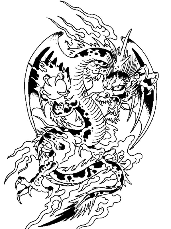 crystal ball coloring pages | Chinese Dragon | NetArt