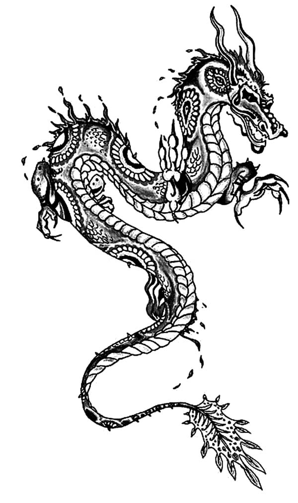 Chinese Dragon Painting Coloring Pages