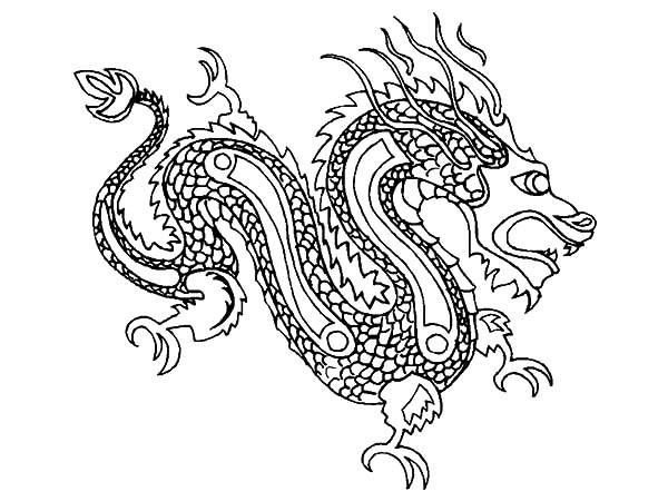 Chinese New Year Dragon Coloring Pages  NetArt
