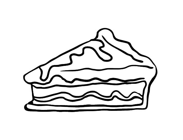 Chocolate Apple Pie Cake Coloring Pages