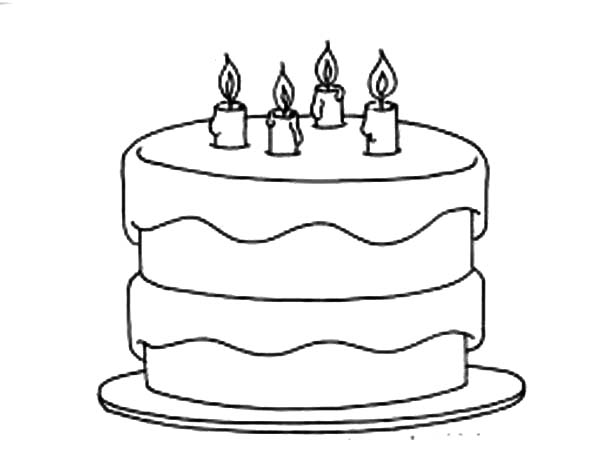 Free coloring pages of birthday chocolate