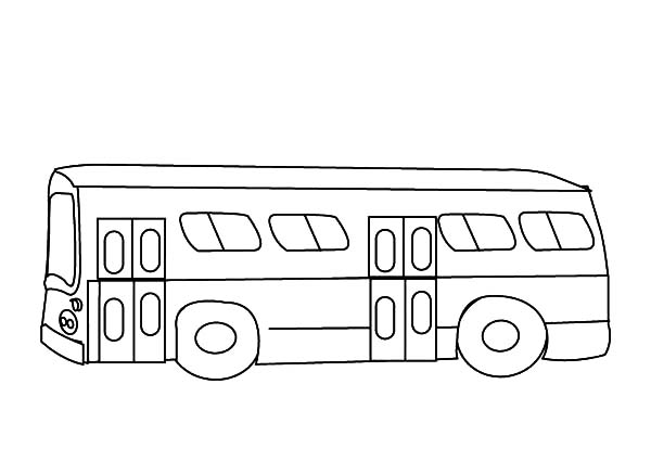 City Bus Outline Coloring Pages
