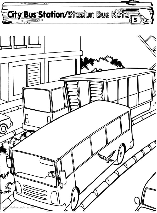 City Bus Station Coloring Pages