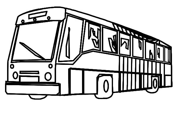 City Bus Wipe Its Front Door Coloring Pages