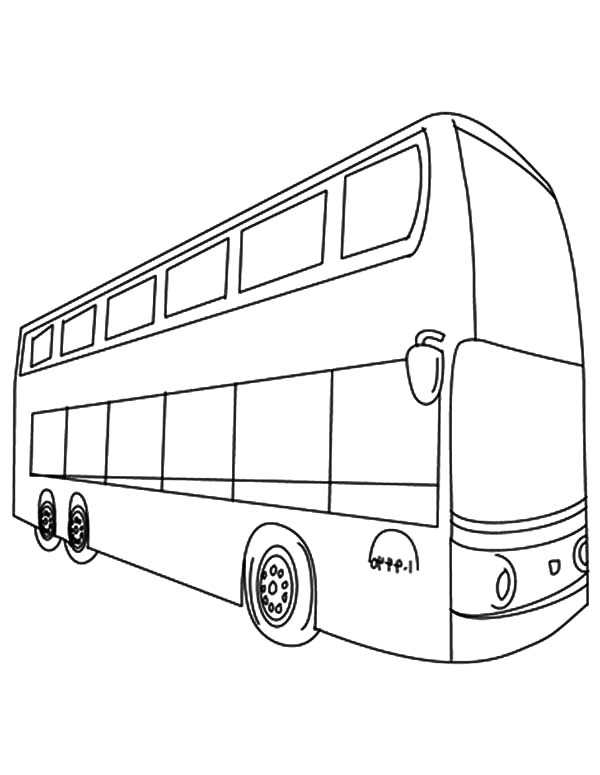 City Main Transportation City Bus Coloring Pages