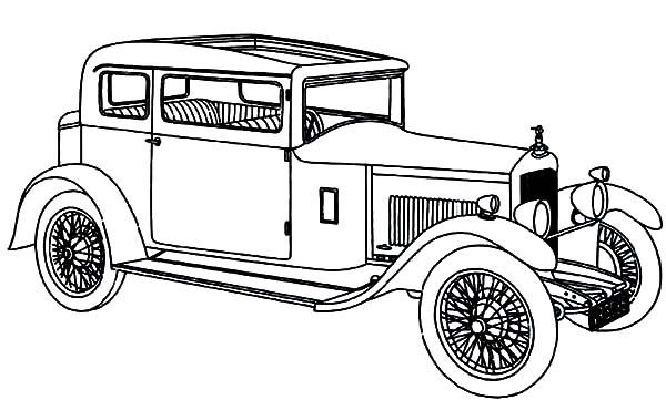 vintage car coloring pages - photo#27