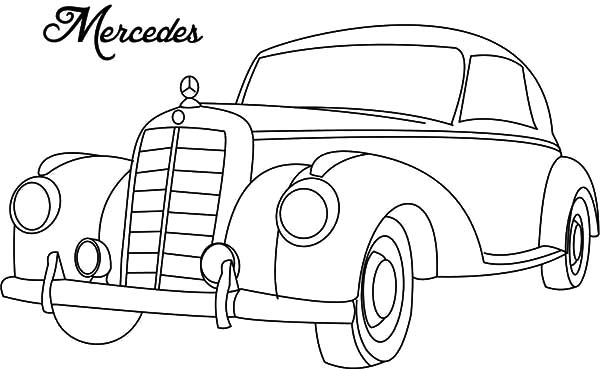 Classic Car Mercedes Coloring Pages