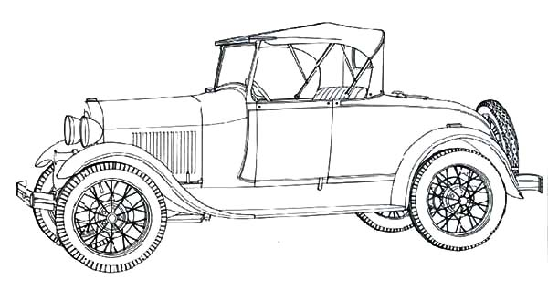 Classic Car Model A Ford Coloring Pages