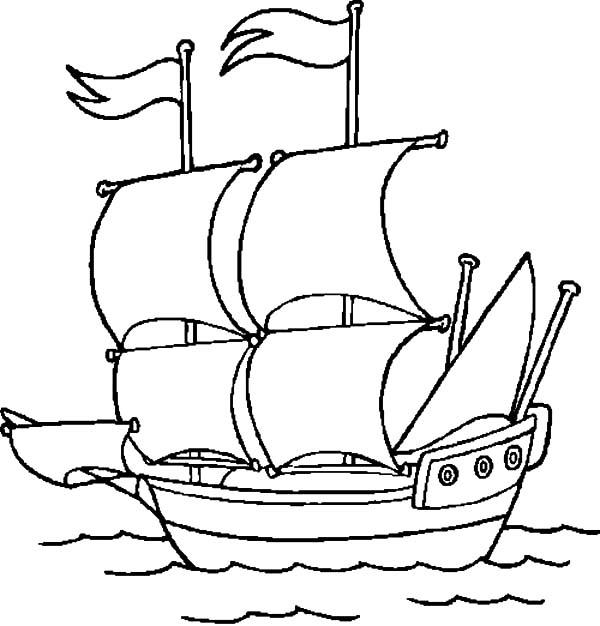 Cruise ship netart for Colonial coloring pages