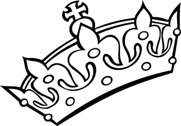 Crown Decorated with Gems Coloring Pages