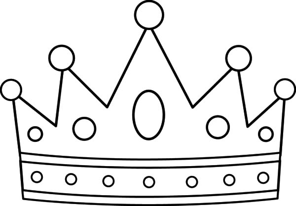 Crown Design Coloring Pages