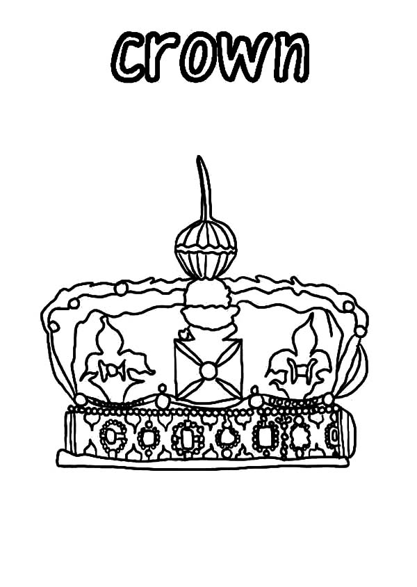 Crown for Coronation Coloring Pages
