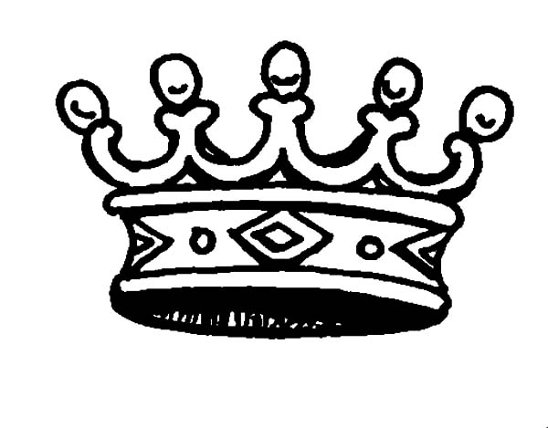 Crown for Princess Coloring Pages