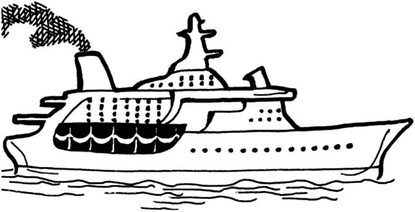 crusie ship coloring pages - photo#28