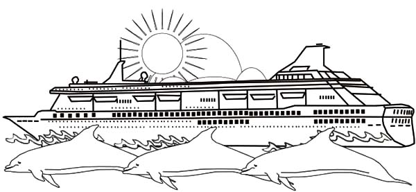 Netart 1 place for coloring for kids part 19 for Cruise ship coloring page