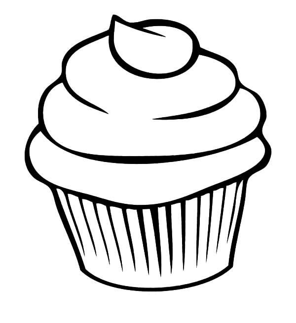 Cup Cake Chocolate Coloring Pages