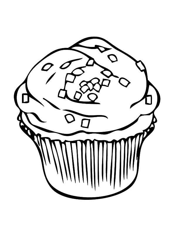 Cupcakes Coloring Pages for Kids