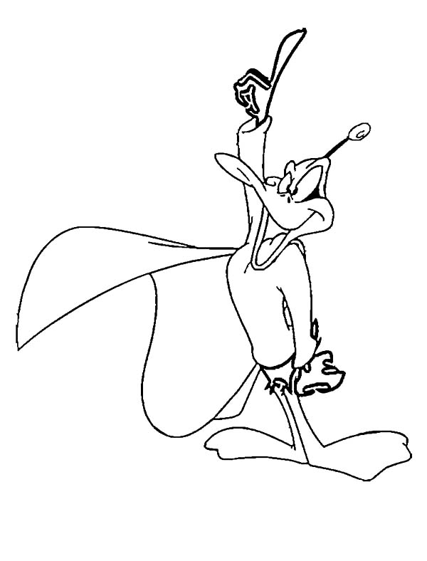 Daffy Duck Duckdodgers Attention Coloring Pages