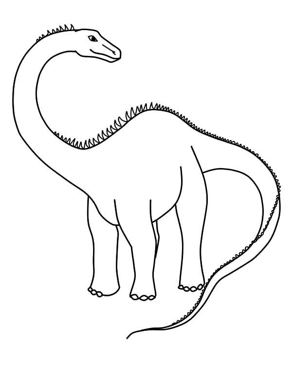 Dangerous Diplodocus Coloring Pages