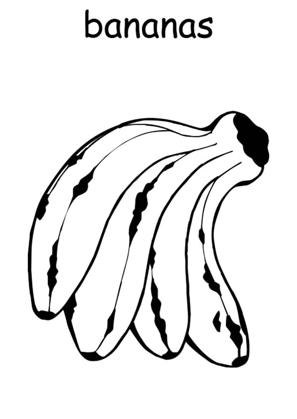 bunch of banana coloring pages - photo#8