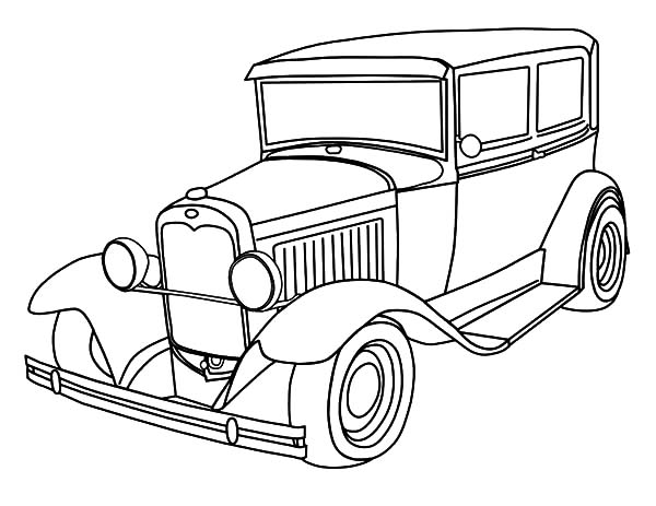 Deluxe Classic Car Coloring Pages