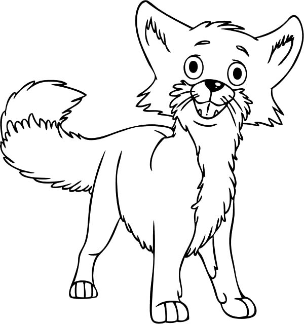 Desert Fox is Confused Coloring Pages