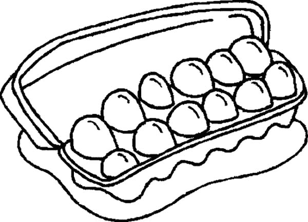 Dozen of Chicken Egg Coloring Pages