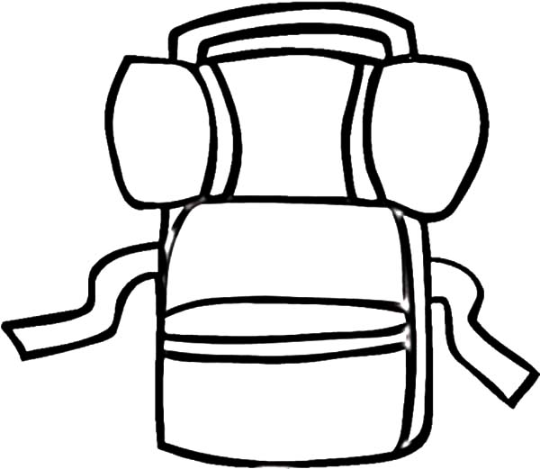 Camping Backpack Netart - school backpack coloring page