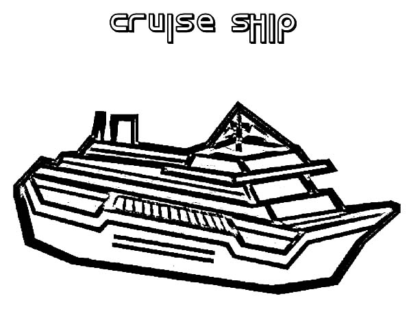 drawing cruise ship coloring pages