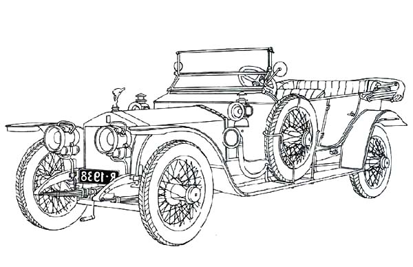 classic car coloring pages - photo#38
