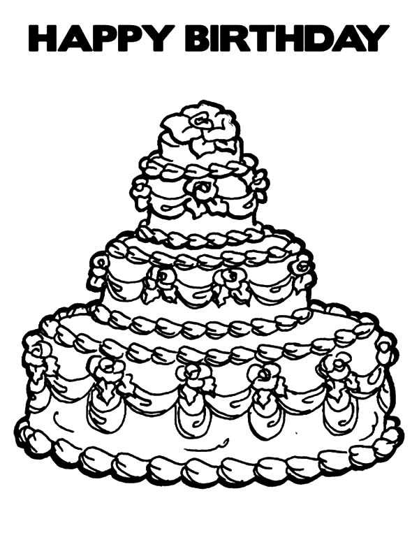 expensive birthday cake coloring pages - Birthday Cake Coloring Pages
